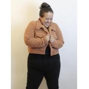 Jaqueta Fluffy Plus Size