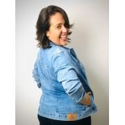 Jaqueta Jeans Plus Size Básica com Lavagem Estonada