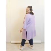 Kimono Lilás de Moletinho Plus Size