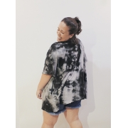 Kimono Tie Dye de Algodão Plus Size