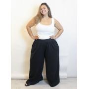 Pantalona de Algodão Ampla Plus Size