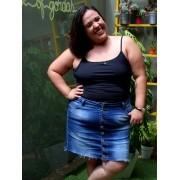 Saia Jeans Plus Size Básica