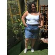 Saia Jeans Plus Size Destroyed