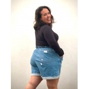 Short Jeans Clochard Plus Size