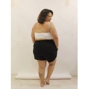 Short Jogger de Moletinho Slim Plus Size