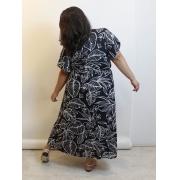 Vestido Cachequer Midi Transpassado Plus Size