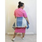 Vestido Canelado Midi Plus Size