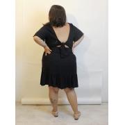 Vestido Curto Com Amarração Nas Costas Plus Size