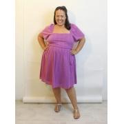 Vestido Curto Com Decote Quadrado Plus Size