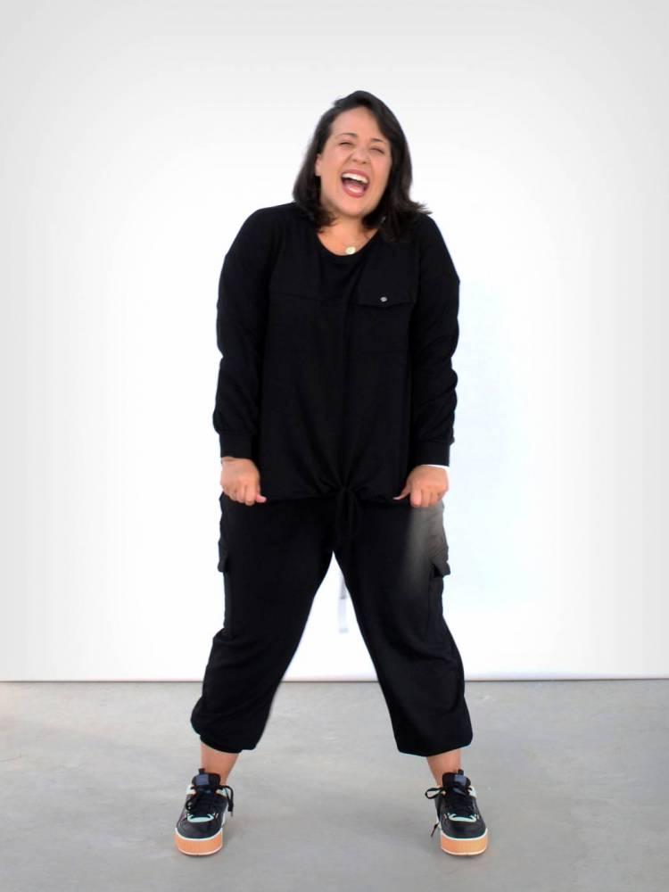 Blusa de Moletinho Plus Size