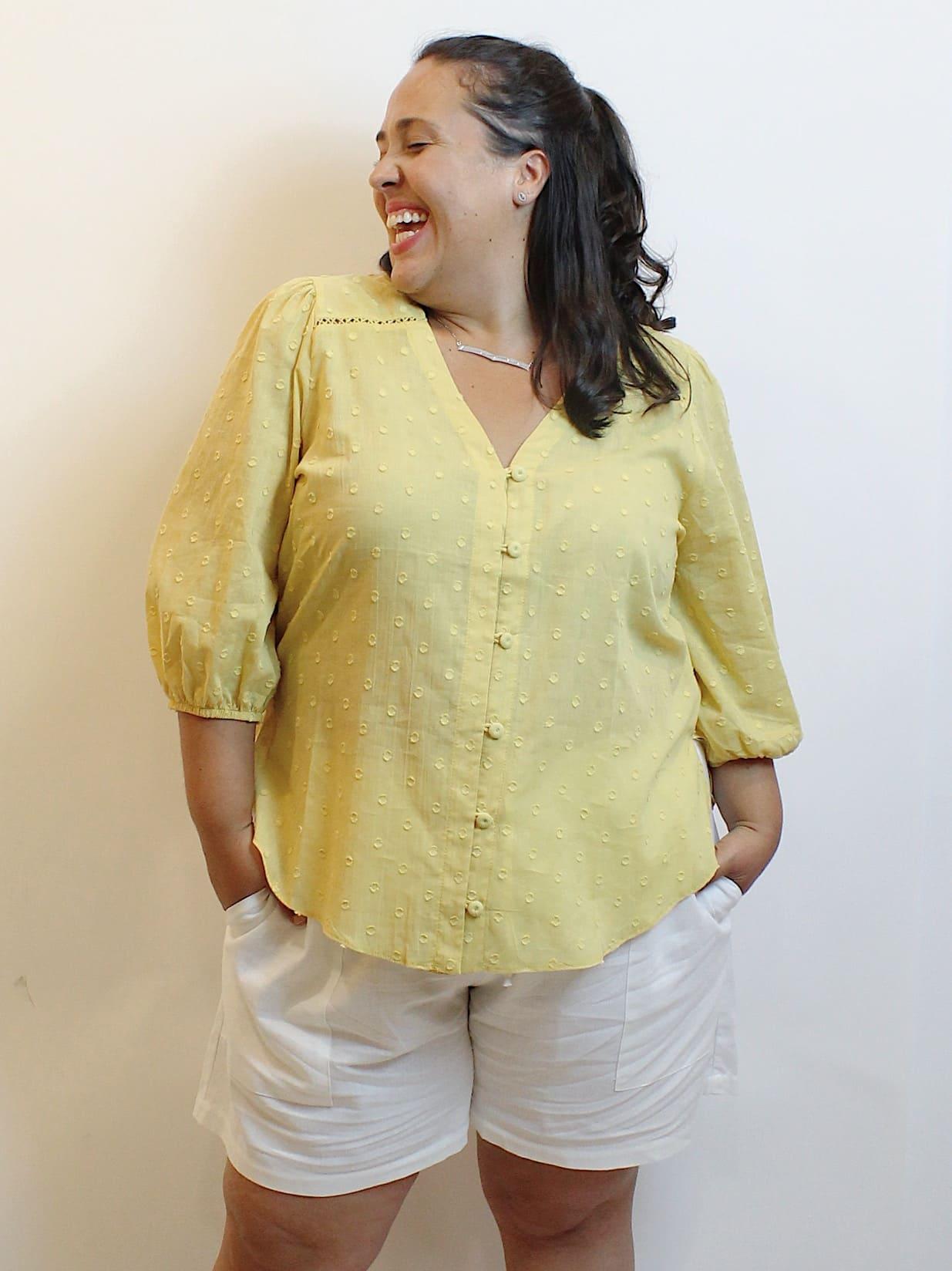 Camisa Ampla Devore Plus Size