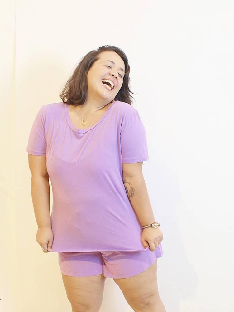 Camiseta Básica Plus Size em Algodão