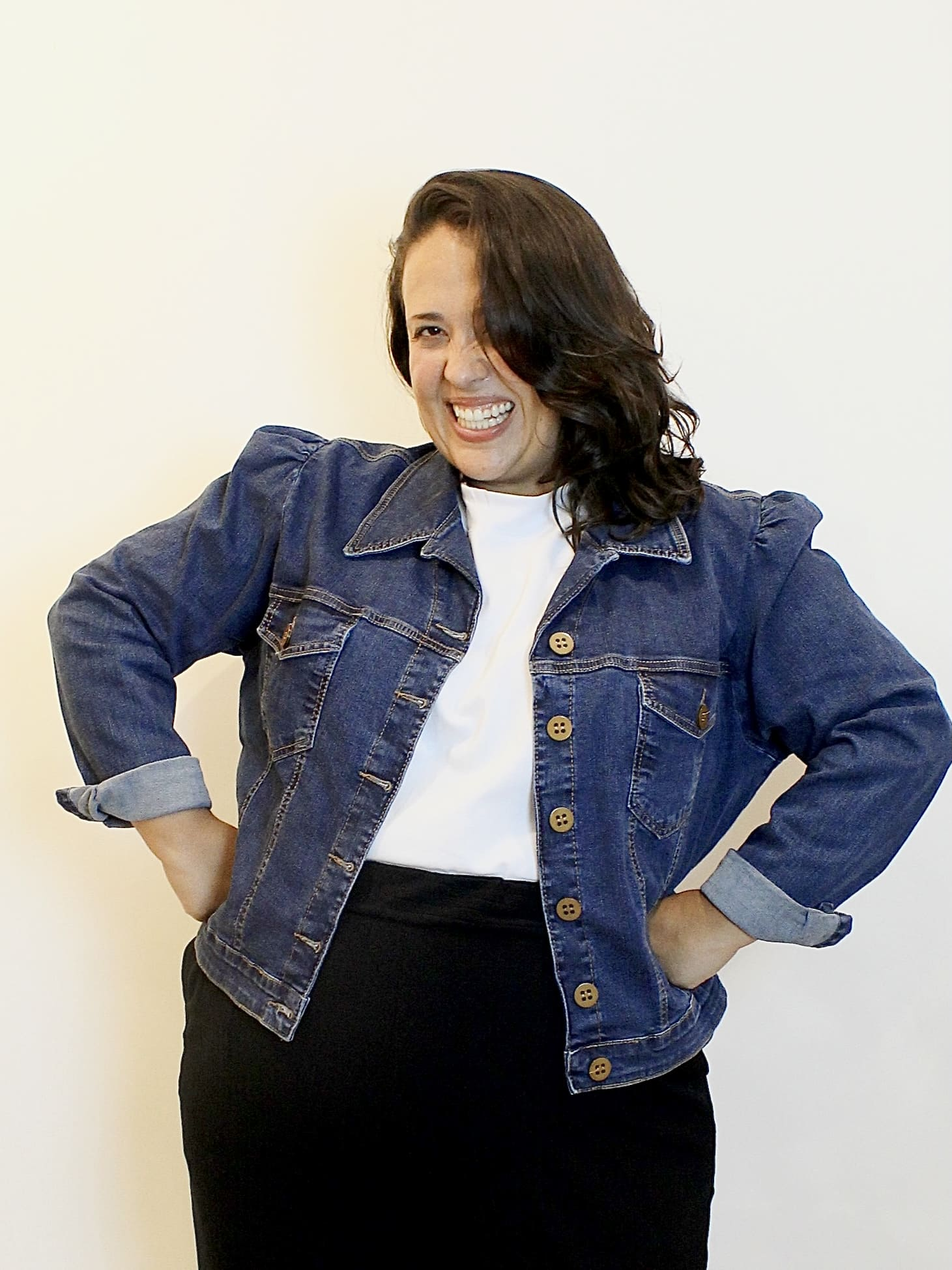 Jaqueta Jeans Manga Princesa Plus Size