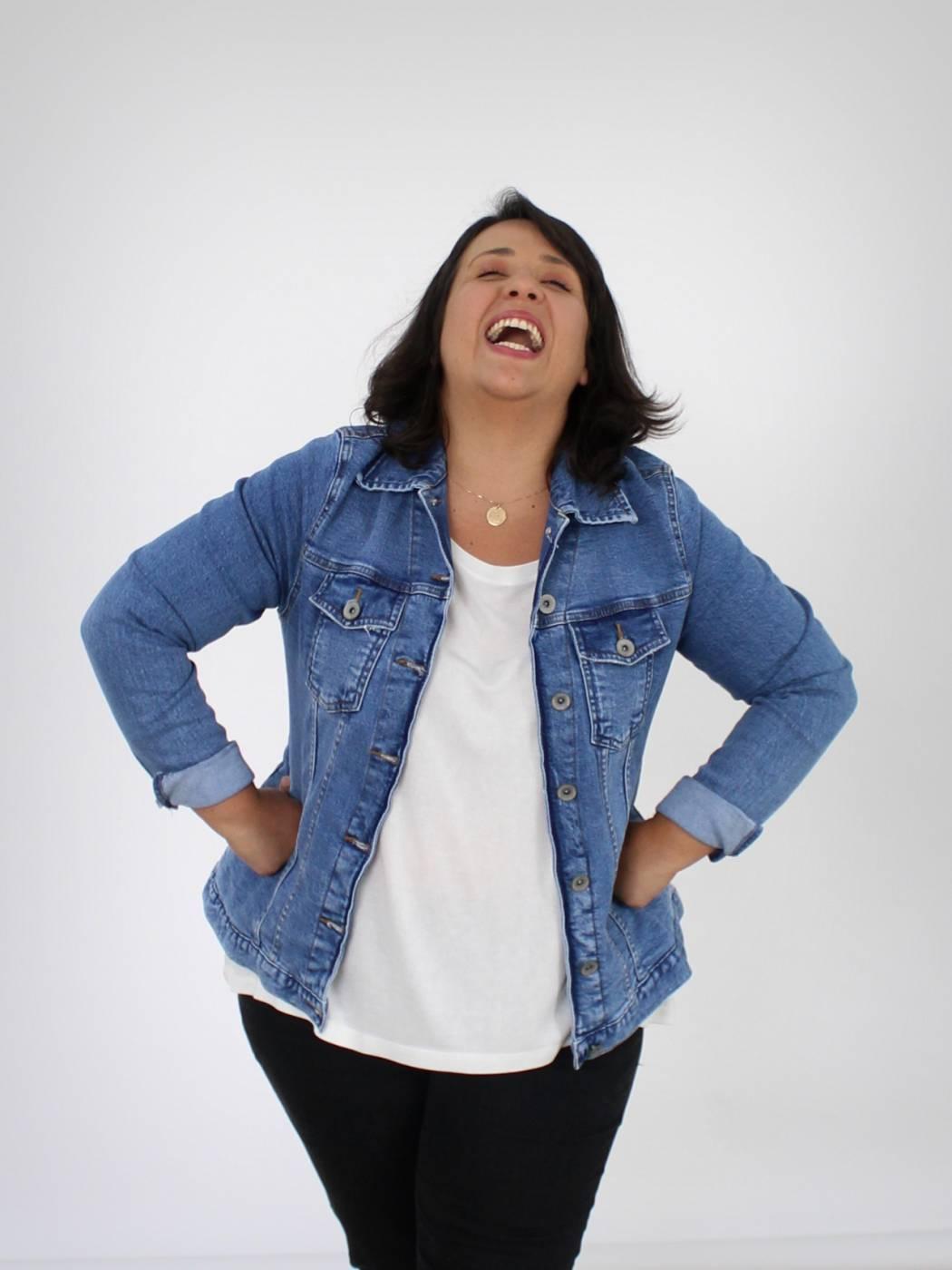 Jaqueta Jeans Plus Size Básica Blue Jeans