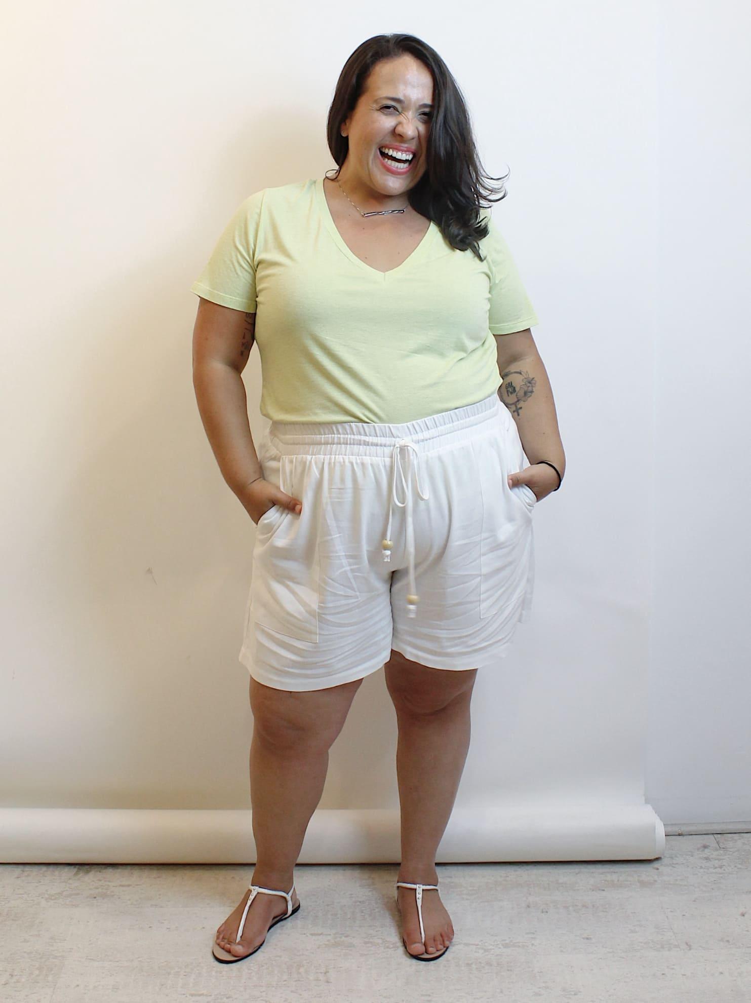 Short De Linho Plus Size