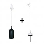 Kit Boia + Obturador Para Caixa Descarga Embutida Novo C-2/1 Cipla