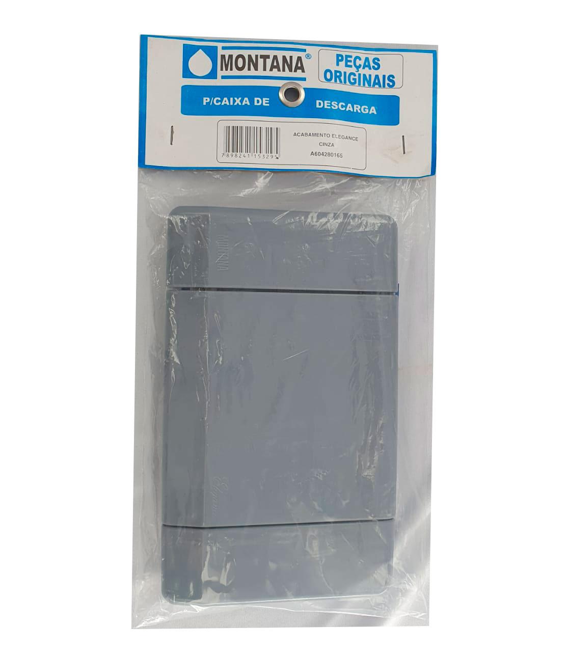 Acabamento +comando +obturador Coaxial Desc Elegance Cinza Montana