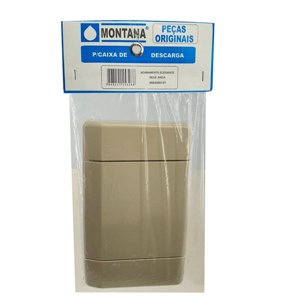 Acabamento + Obturador Descarga Elegance Bege Montana Original