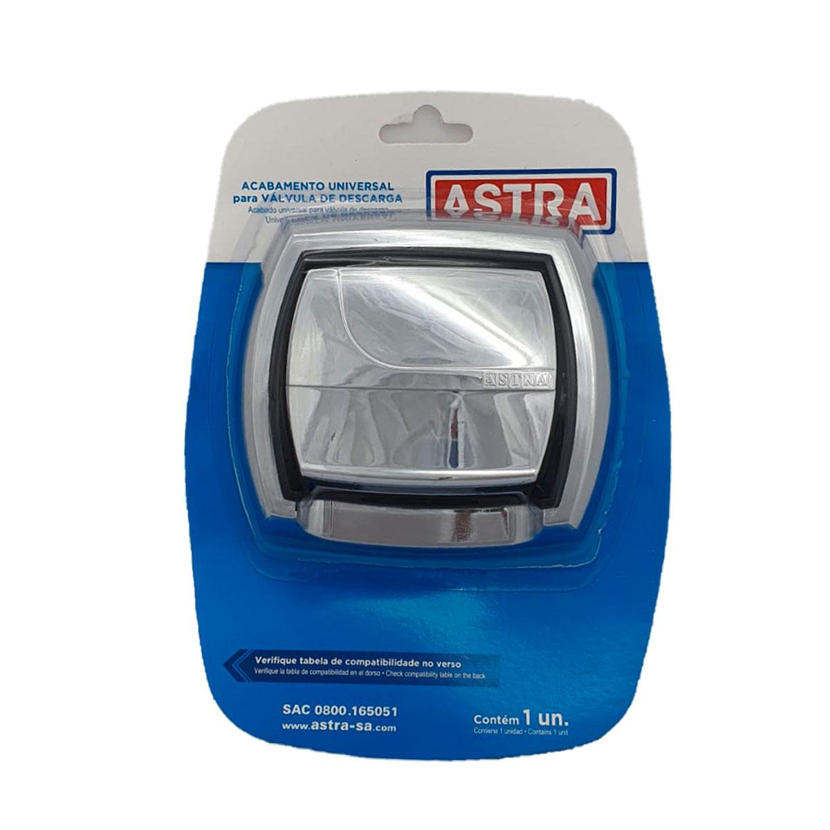 Acabamento Válvula Descarga Universal Cromado Astra