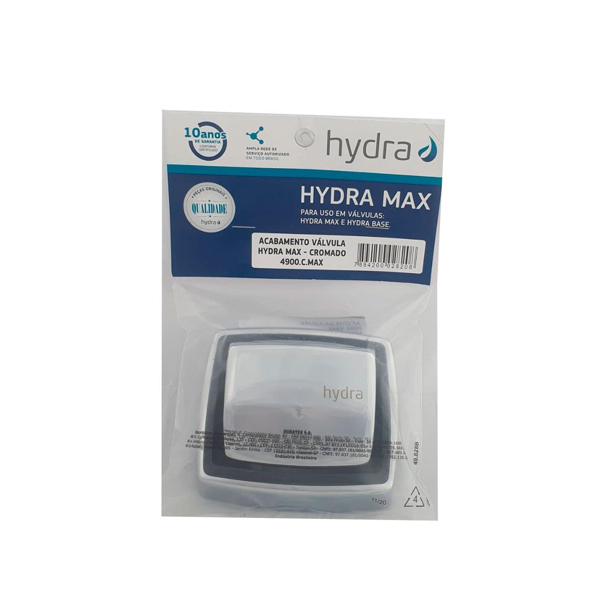Acabamento Válvula Hydra Max Metal Original
