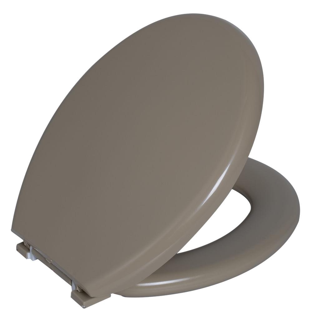 Assento Oval Almofadado Bege 2  Astra