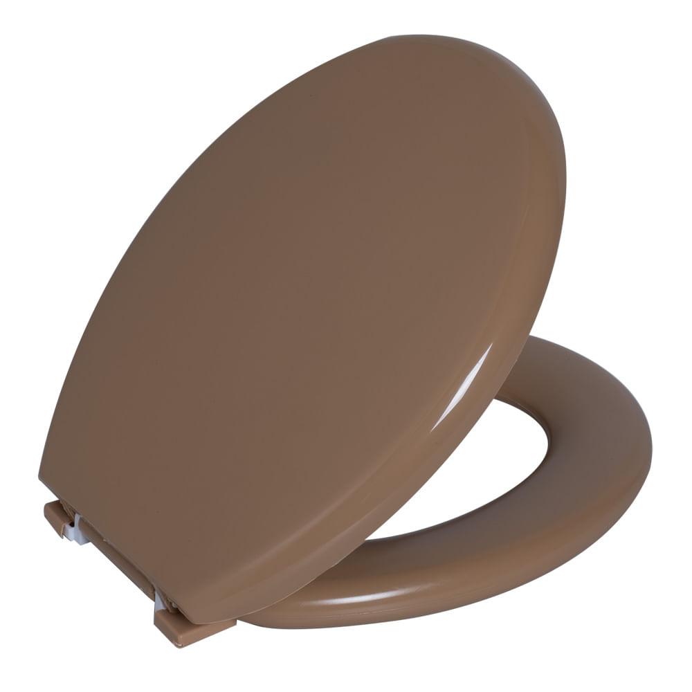 Assento Oval Almofadado Bege 7  Astra