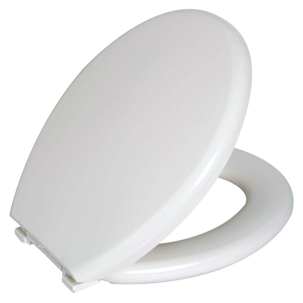 Assento Oval Almofadado Branco Astra