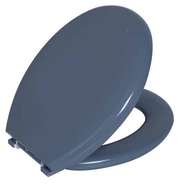 Assento Oval Almofadado Cinza Escuro 1 Astra