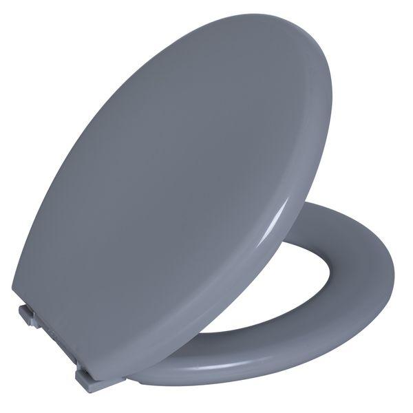 Assento Oval Almofadado Cinza Claro 2  Astra