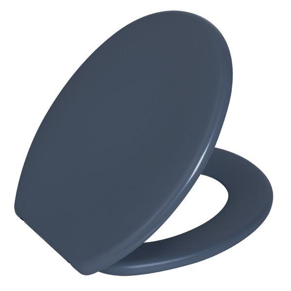 Assento Oval Soft Cinza Escuro 1  Astra