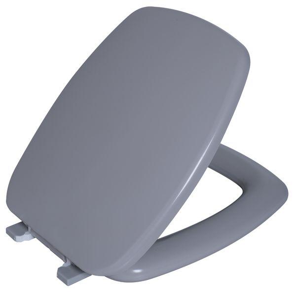 Assento Stylus Almofadado Cinza Prata  Astra