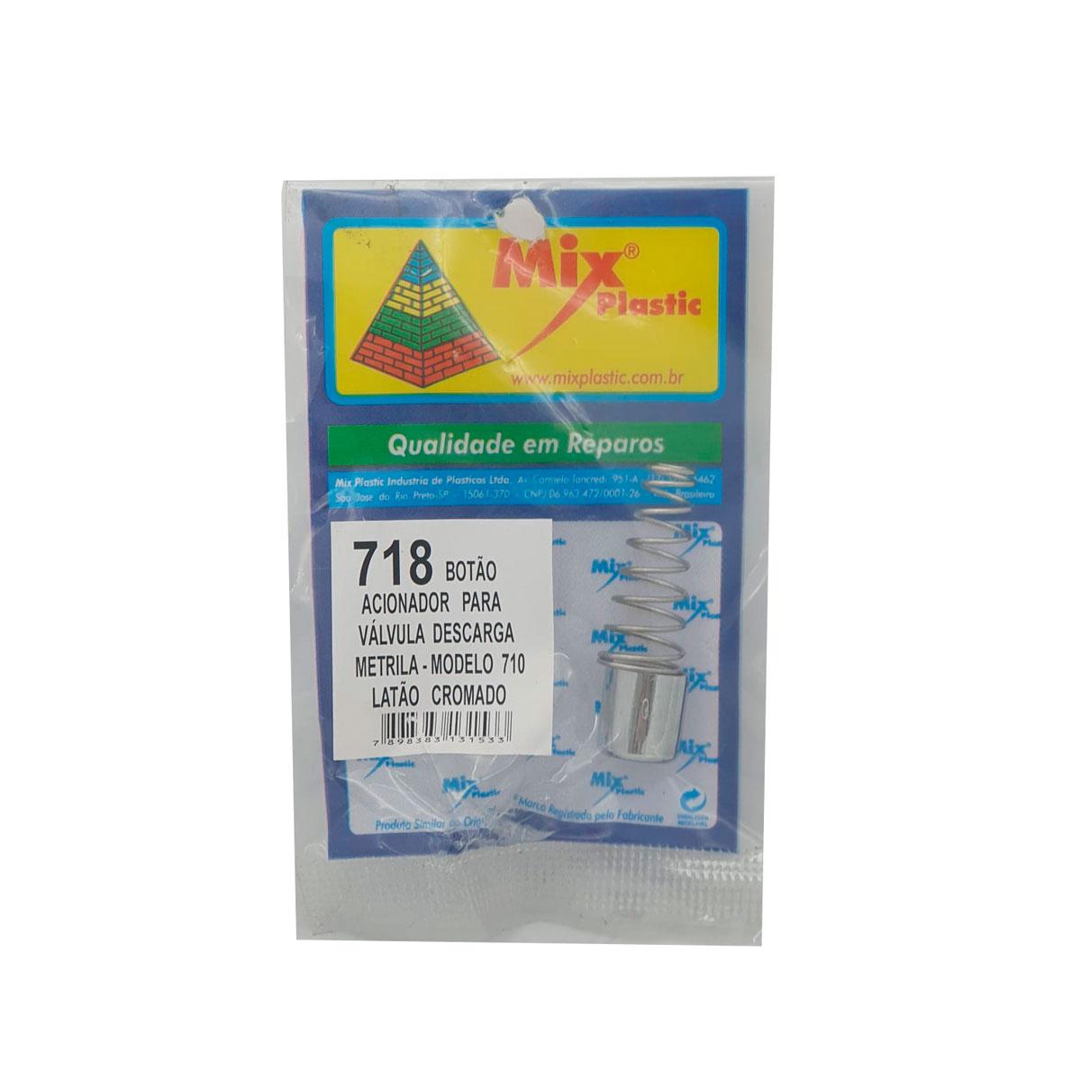 Botão Acionador Metrila 710 Abs Cr Mix Plastic