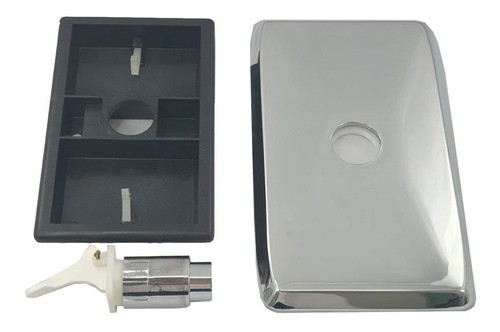 Comando Descarga Brasilit Plástico Cromado Original
