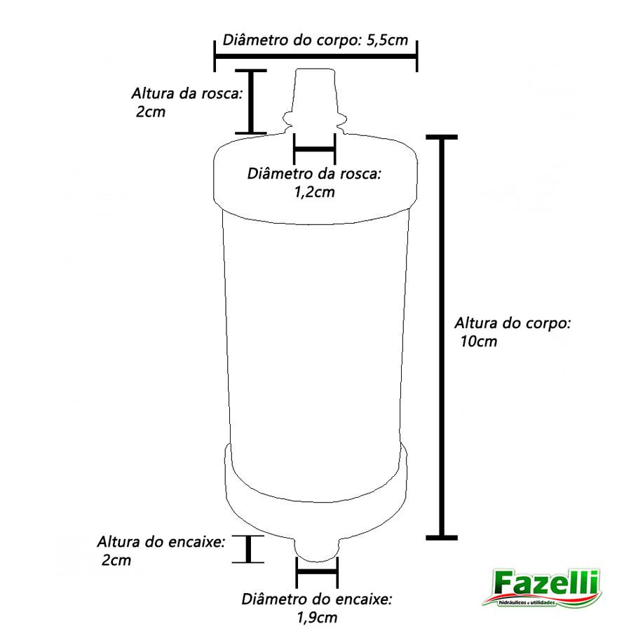 Vela Refil De Filtro Pro Saúde Injet Plast 100mm (kit Com 3)
