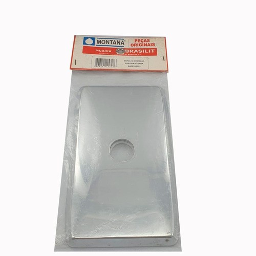 Espelho Descarga Brasilit Plástico Cromado Montana