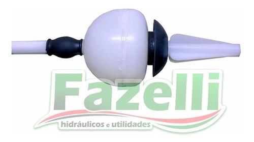 Kit Completo Reparo Caixa Descarga Brasilit Cromado Original