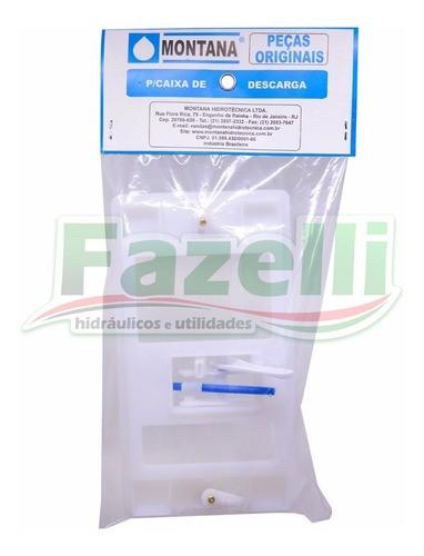 Kit Completo Reparo Caixa Descarga Elegance cinza Montana