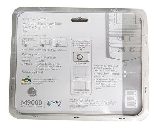Kit Completo Reparo Caixa Descarga Montreal Inox Montana
