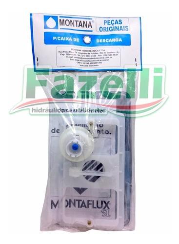 Kit Obturador Coaxial E Comando Caixa Descarga Montaflux Inox Montana