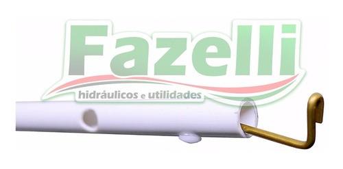 Kit Obturador E Comando Branco Caixa Descarga Brasilit