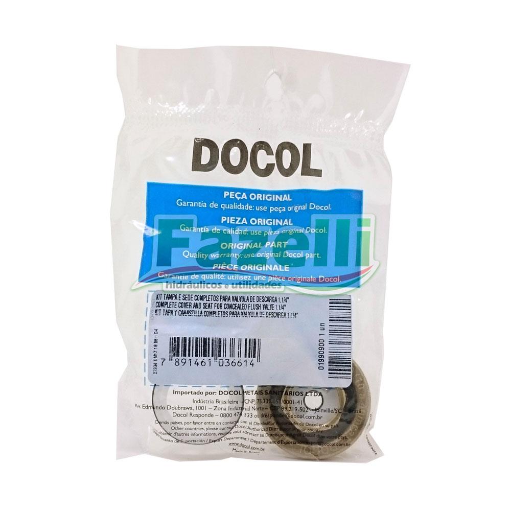 Kit Tampa e Sede Válvula Descarga 1.1/4 DOCOL Original