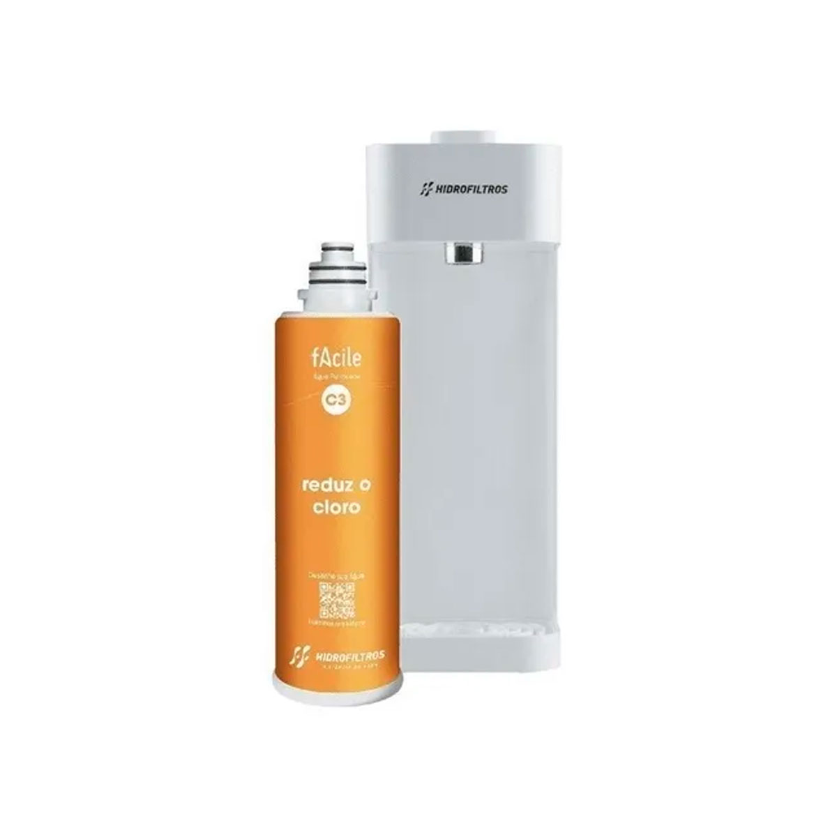 Purificador De Agua Hidro Filtros Facile C3 Branco