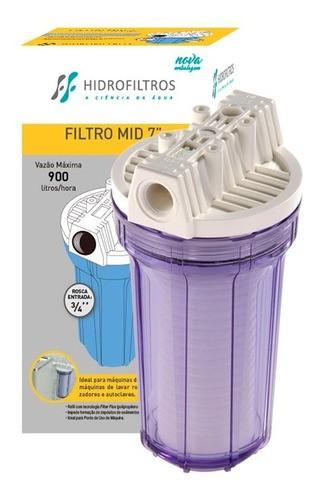 """Refil Mid Filter Flux 7"""" De Encaixe Hidro Filtros"""