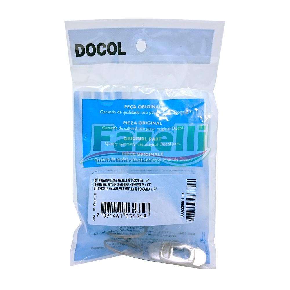 Reparo Válvula Docol + Kit Mola E Chave Docol 1.1/4 Original