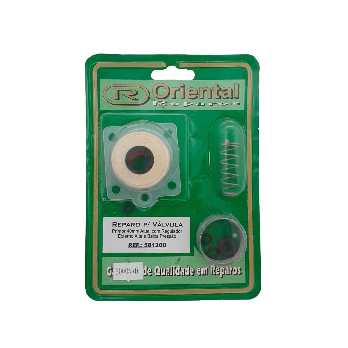 Reparo Válvula Oriente Primor 40mm C/ Regulador