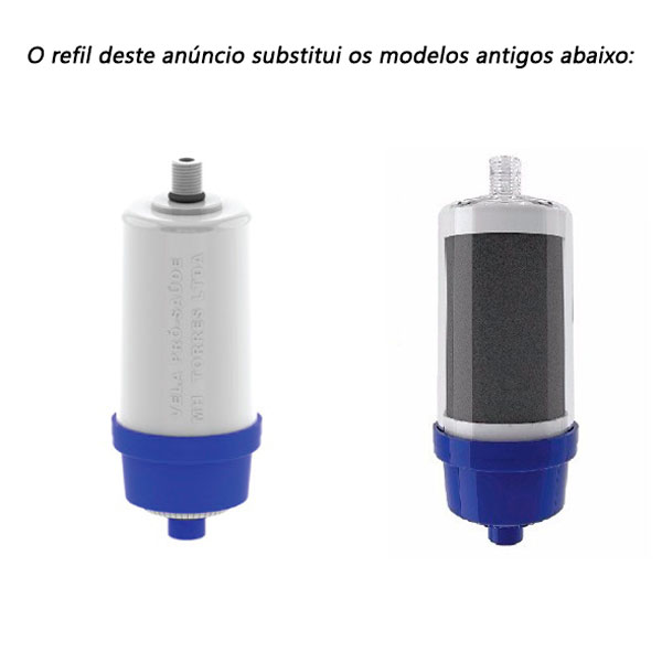 Vela Refil De Filtro Pro Saúde Injet Plast 100mm (kit Com 2)