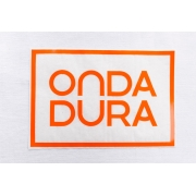Adesivo médio laranja Onda Dura