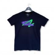 Camiseta logo oficial Onda Dura riscado roxo e verde