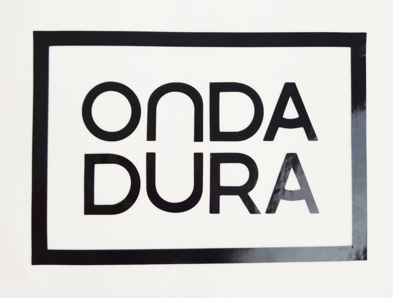 Adesivo grande preto Onda Dura