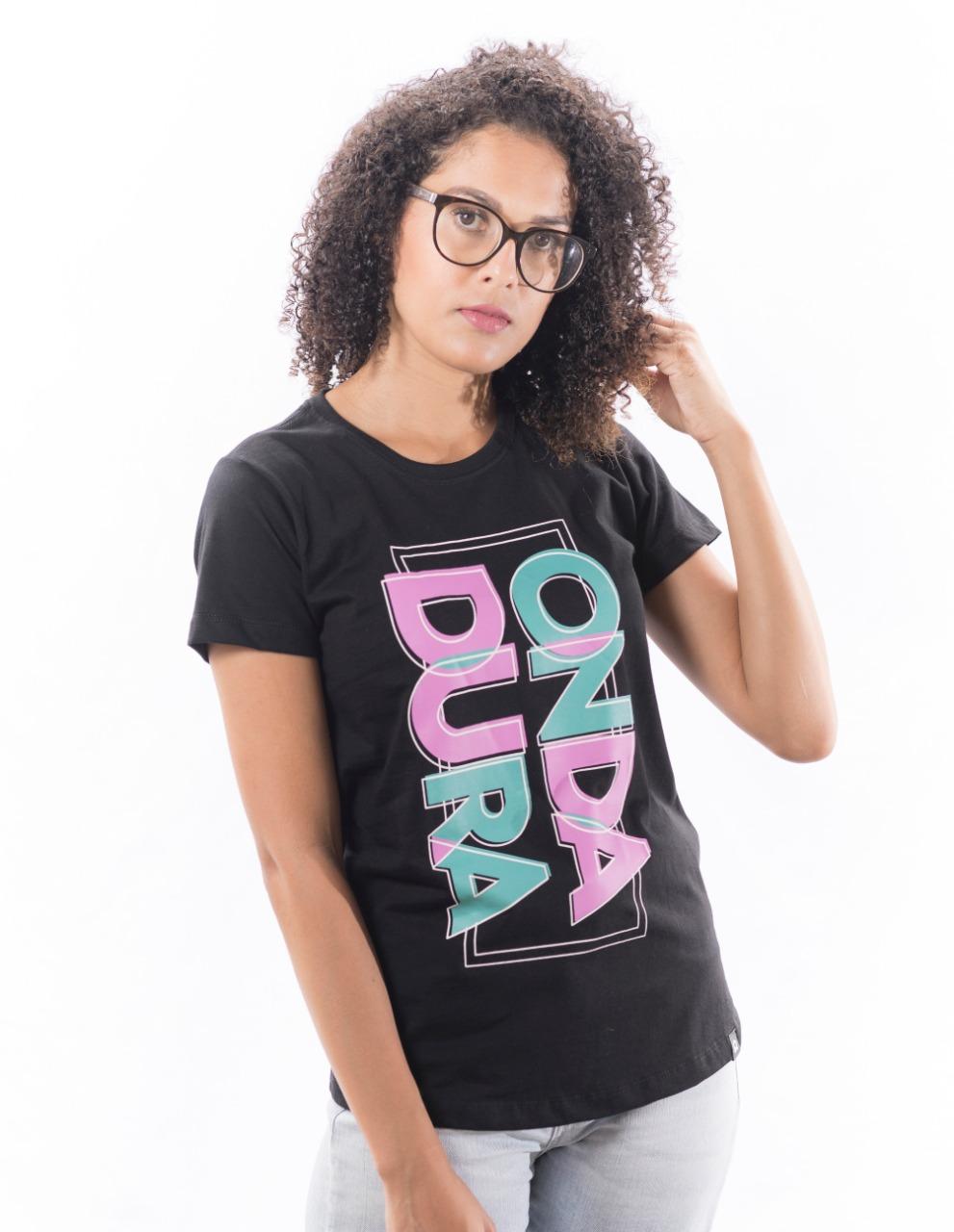 Babylook preta feminina Onda Dura color 90º
